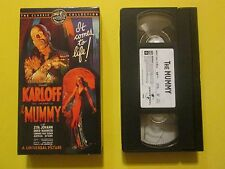 The Mummy Boris Karloff Zita Johann Horror Haloween VHS