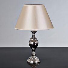 Baroque Classic Chrome Table Lamp - Complete With Shade