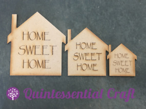 wooden mdf house shaped craft blank home sweet home embellishment