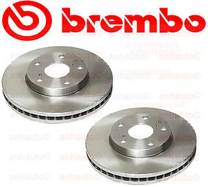 Set of 2 Brembo 25358 Front Brake Rotors Toyota Avalon Camry Sienna Solara ES300