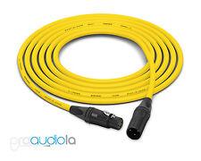 Canare Quad L-4E6S Cable | Neutrik Gold XLR-F XLR-M | Yellow 100 Feet | 100 Ft.