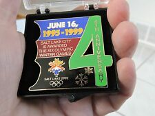 2002 SALT LAKE CITY OLYMPICS PIN #/LTD ED in PLASTIC BOX 4th anniversary