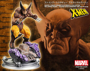 KOTOBUKIYA WOLVERINE FINE ART STATUE X-MEN BROWN Costume Danger Room Sessions