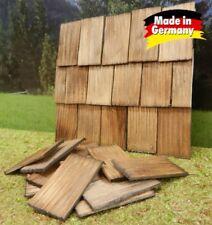 100 Stück Dachschindel, handgeschlagen, nussbaumfarben 4x2,3x0,3cm - Krippen