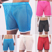 Mens Hollow Board Shorts Elastic Trunks Swimming Surfing Pants Beachwear Sports