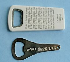 Canadian National CN Hotels Vintage Bottle Openers Entree Plastic and Metal