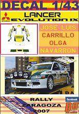 DECAL 1/43 MITSUBISHI LANCER EVO IX J. L. CARRILLO R. ZARAGOZA 2007 WINNER (01)