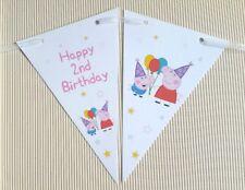 ☆ Peppa Pig ☆ 2nd Birthday Bunting ☆ 12 Flags