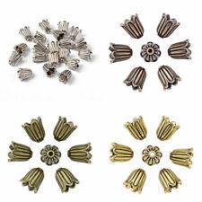 20pcs Tibetan Alloy Carved Flower Bead Cpas More-Petal Cone Findings Pick Color