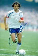 Michel PLATINI Signed FRANCE World Cup WINNER 12x8 Autograph Photo 2 AFTAL COA