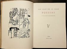 San Juan de la Cruz Poesias 1943. Illustrated by Ballester Pena. Viau Bs.As. NR!