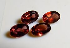 4pc NATURAL PYROPE GARNET OVAL CUT FACETED GEMS 5X4mm - CUT FROM NATURAL ROUGH