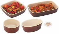 Zodiac Farmhouse Collection Ceramic Roasting Dish Souffle Ramekin Pie Dish