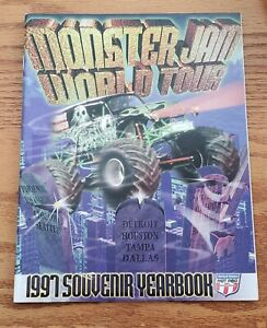 1997 Monster Truck USHRA Monster Souvenir Yearbook Program with HUGE POSTER!!