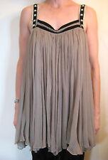 Sass and Bide Size 40 or 12 Green Silk Shift Dress