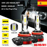 Copia 55W H8 H9 H11 20000LM Coche LED Faros Bombillas Lámparas Kit Blanco 6000K