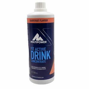 Multipower Fit Active Konzentrat Grapefruit 1 Liter für 80l Getränk Sportdrink