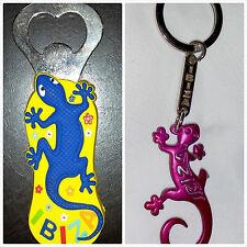 Set of 2 Ibiza Island souvenir Magnet Bottle Opener & Key Chain, lizard design!