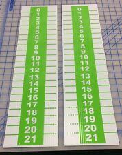 2 Cornhole Scoreboard Bean Bag Baggos Horseshoes Bocce Ball Washers Lime Green
