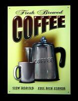 Kaffee Reklame Coffee Cafè Poster Deko Schild Kaffeetrinker Werbung * 861