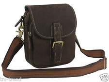 Men Crazy horse Leather Messenger Bag shoulder bag Small Casual Crossbody Bag