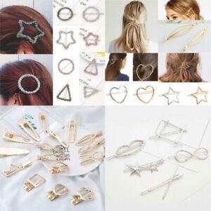 Chic Geometric Hollow Metal Hairpins Barrettes Hair Clip Hair Accessories Gifts#