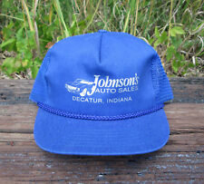 Johnson's Auto Sales Decatur, IN Trucker Hat Baseball Cap Snapback Mesh Back USA