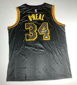 Shaquille O'Neal Signed Lakers Black Jersey PSA 9A24301 Shaq Autographed