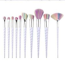 Face 10 Pcs Makeup Brushes Blusher Unicorn 1 Set Foundation Concealer Powder