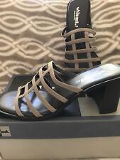 White Mt. Stella Beige Slide Sandals Women's 7.5M New In Box