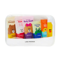 Korea LINE Friends Travel Kit 5 in 1 with Sally Toothbrush Set