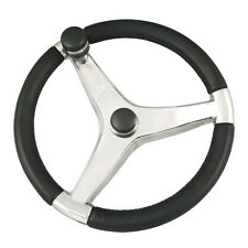 "Ongaro Evo Pro 316 Cast Stainless Steel Steering Wheel 13.5"" D with Control Knob"