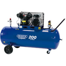 Draper Expert 200L 230V 3.0hp (2.2kW) V-Twin Belt-Driven Air Compressor 34383