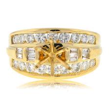 14k Yellow Gold Diamond Engagement Ring Mounting