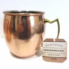 Solid Copper & Brass Moscow Mule Mug, 16 Ounces, New with Tags