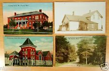 Mt. Pleasant Michigan MI 4 Postcards 1 rppc Training School Church Normal Park