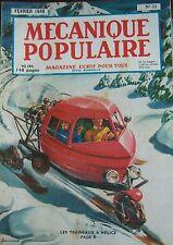 REVUE MECANIQUE POPULAIRE N° 033 AVIATION AMERICAINE TRAINEAU TELEVISION 1949
