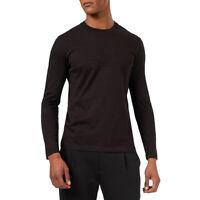 Emporio Armani 6G1TL61JHWZ T-Shirt Maglia da Uomo Nera in Cotone F/W   -20%