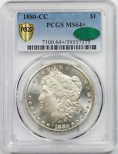 1880-CC $1 PCGS/CAC MS 64 Plus + Morgan Silver Dollar