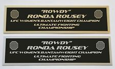 Ronda Rousey UFC nameplate for signed mma gloves photo or case