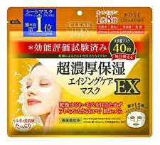 Kose Clear Turn super rich moisturizing mask EX 40 sheets F/S From Japan
