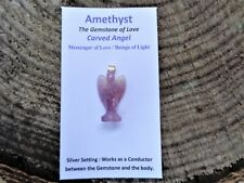 Amethyst Angel Carving Pendant-Beautifully handcarved-Lovely energy*
