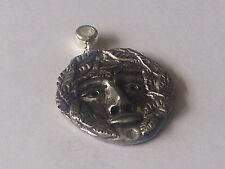 Green Man code dr84 with 5mm Hole to fit Pendant Charm Bracelet European
