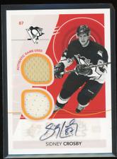 2010-11 SPx Flashback Fabrics #254 Sidney Crosby Auto 2 x GU Jersey Pittsburgh