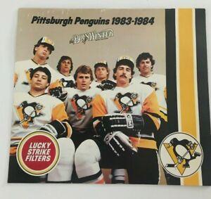 Pittsburgh Penguins 1983 1984 Vintage Wall Calendar Schedule Civic Arena SGA Vtg