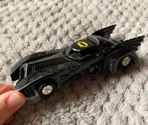 Vintage 1989 DC comics Batmobile Batman car diecast and plastic toy PREOWNED