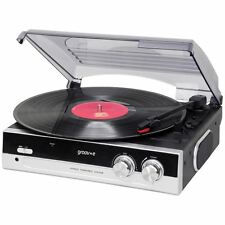 Groov-e Retro Series GVTT01BK Vinyl Record Player - Black