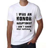 RECEPTIONIST, Tshirt Col Rond Homme T-shirt, Blanc Tshirt, Cadeau Tshirt
