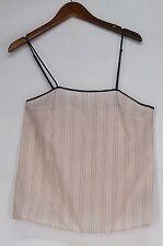 Women's Regular Size Striped Sleeveless Knit Tops & Blouses