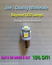 (4)BAYONET LED-6.3V AC-LAMP/COOL or WARM WHITE-BA9s-1847/KR-7600 4400 10000 9600